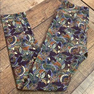 Paisley floral print LuLa roe leggings OS